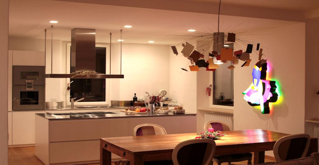 Illuminazione appartamento centro storico officina della - Sala da pranzo design ...